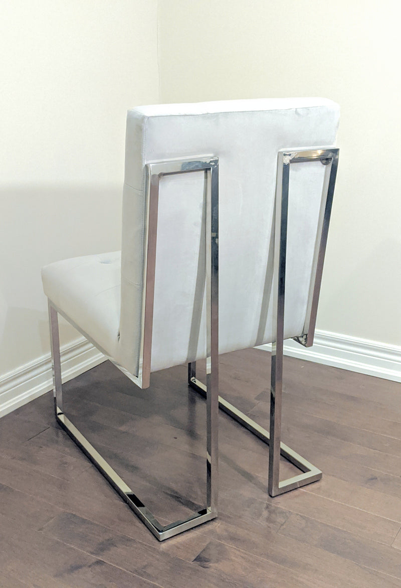 SOMERSET CHROME LEGS SIDE/DINING CHAIR