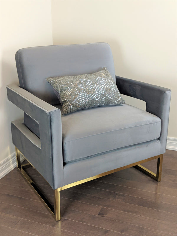 Canterbury Velvet Golden Armchair