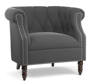 chesterfield barrel chair
