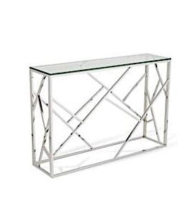 Chrome Sydney Console Table