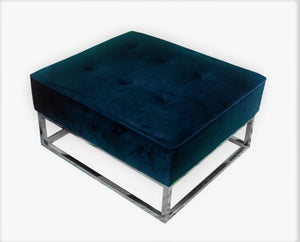 WELLINGTON CHROME UPHOLSTRY OTTOMAN