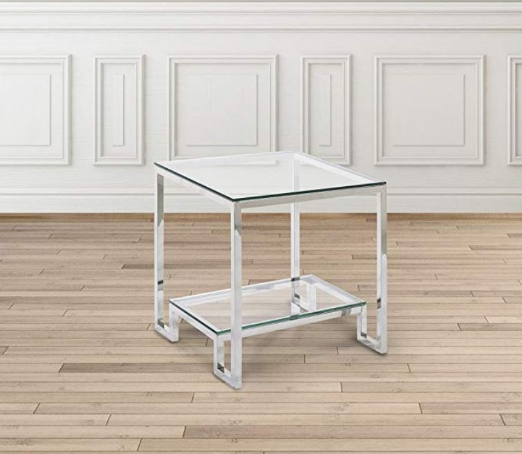 MINGORA STAINLESS STEEL SIDE TABLE