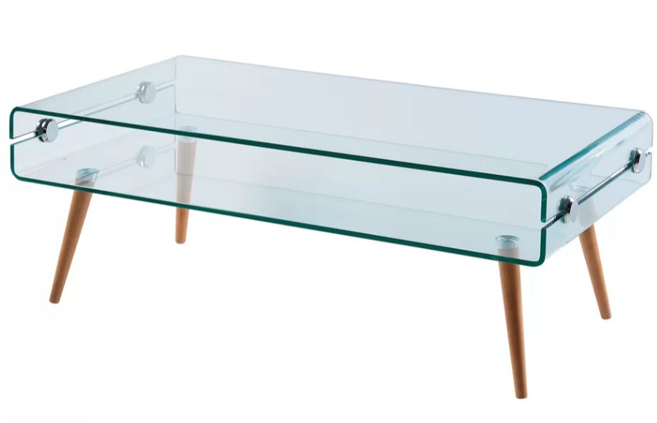 Glass Coffee Table Images.Cassette Bent Glass Coffee Table