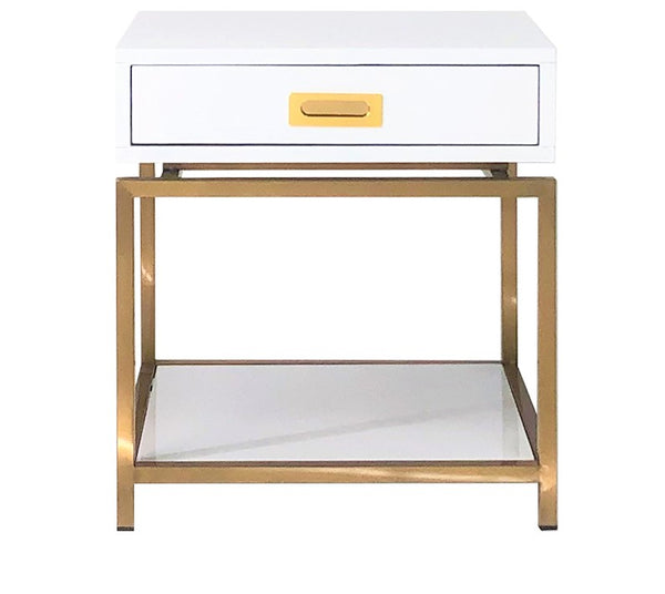 Havana Golden Nightstand / Side Table