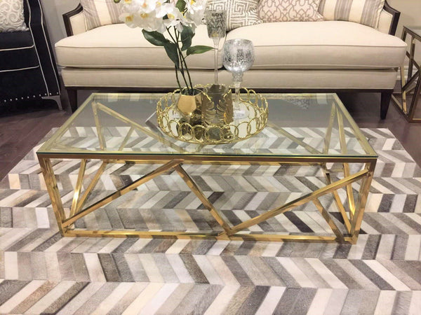 Sydney Golden Stainless Steel Coffee Table