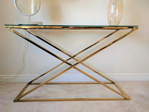 ZIG ZAG GOLDEN CONSOLE TABLE