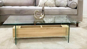 Kensington Glass and Wood Coffee Table