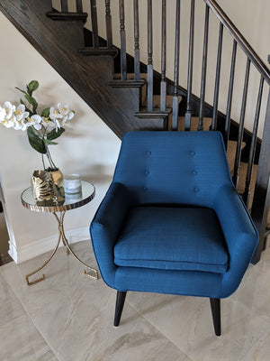 Fabulous Colette Mid Century Accent Arm Chair Kraftsmen Furniture Co Ocoug Best Dining Table And Chair Ideas Images Ocougorg