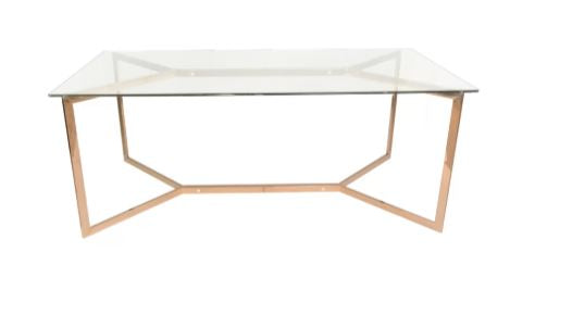 Surrey Stainless Steel Golden Dining Table