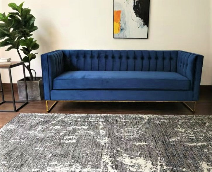 Rolleston Mid Century Velvet Upholstered Sofa