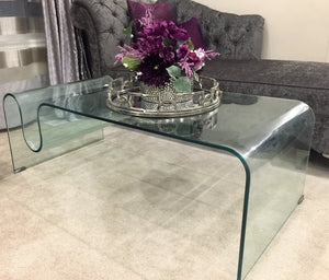 MYSTIC BENT CASSETTE GLASS COFFEE TABLE