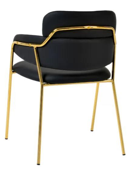 JETT GOLDEN LEGS SIDE/DINING CHAIR