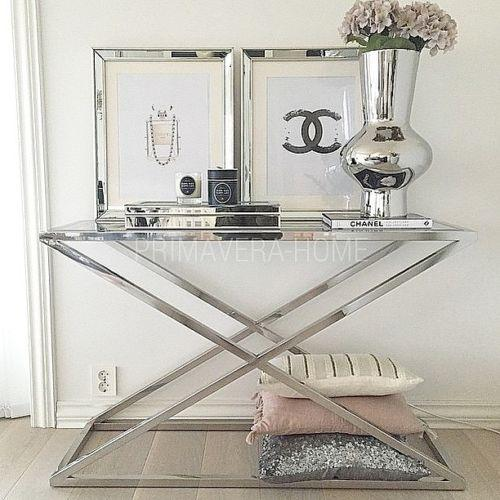 ZIG ZAG SILVER CONSOLE TABLE