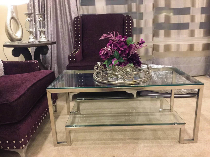 Mingora Chrome Stainless Steel Coffee Table