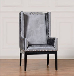 Gray HighBack Alonso Accent Chair