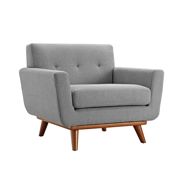 Kingston Mid Century Modern Upholstered Arm Chair
