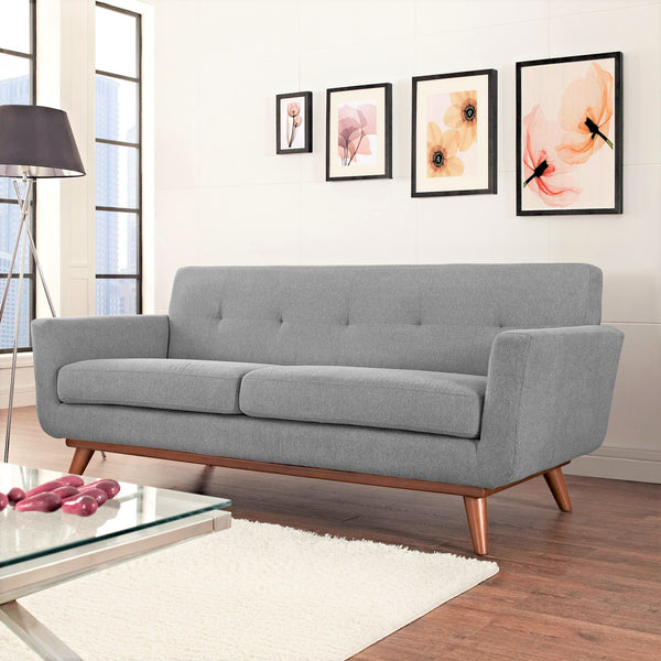Kingston Mid Century Modern Upholstered Sofa