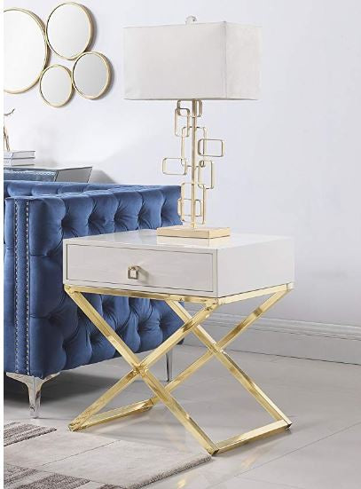 Napier Golden Nightstand/Side Table