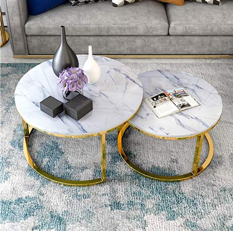 Coventry Golden Legs Nesting Tables