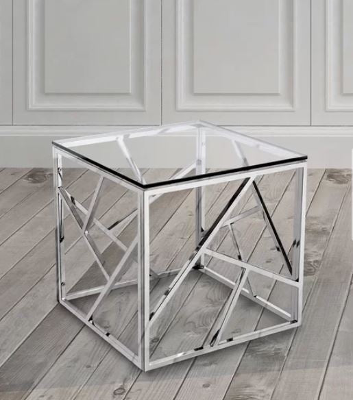 CHROME SYDNEY STAINLESS STEEL SIDE TABLE