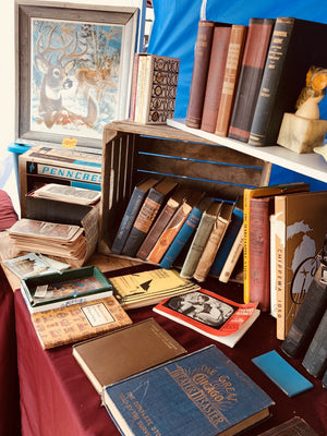vintage books at antique shows a fun combination