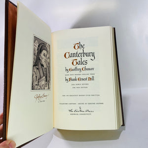 Canterbury Tales by Geoffery Chaucer 1978 Eaton Press-Reading Vintage