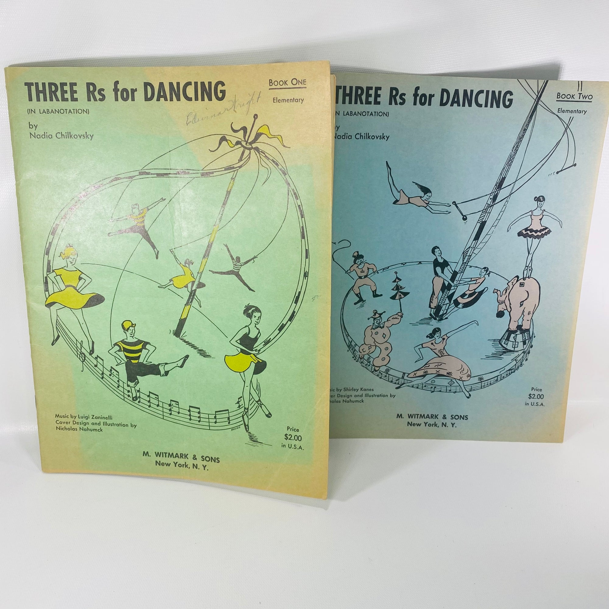 Three R's for Dancing Book 1 & 2 by Nadia Chilkovsky 1953-Reading Vintage