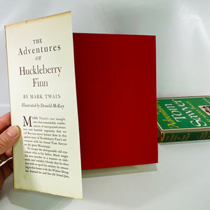 Two Mark Twain Books The Adventures of Tom Sawyer 1946 & The Adventures of Huckleberry Finn 1948 Grosset & Dunlap