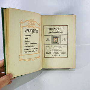 Friendship by Hugh Black 1911 Fleming H Revell Company-Reading Vintage
