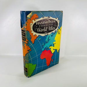 Hammond's Complete World Atlas 1951 C.S.Hammond & Co-Reading Vintage
