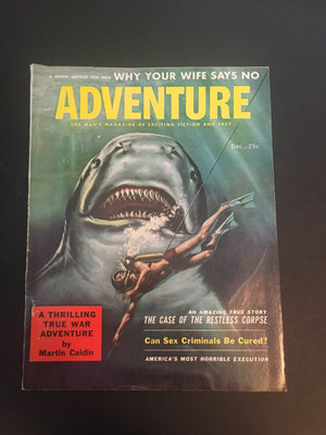 Vintage Men's Magazine Adventure Magazine December 1957