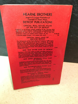 Hearne Bros. Official Street Guide of Detroit and Dearborn Michigan 1940