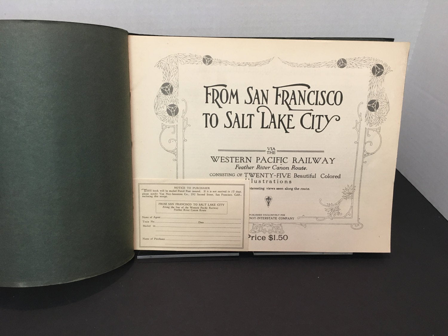 1920-Western Pacific Railway, From San Francisco to Salt Lake City, Feather River Canyon Route along the line Western Pacific Railway-