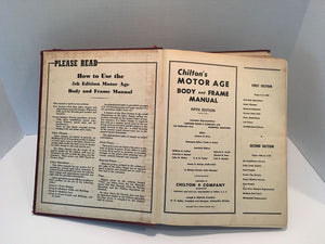 Chilton's  Motor Age Body and Frame Manual 5th Edition 1954