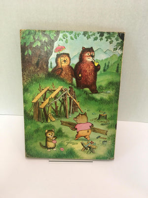 A Big Golden Book, Three Bedtime Stories, Pictures by Garth Williams-1958, Including The 3 Little Kittens, The 3 Bears and The 3 Little Pigs