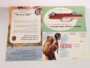 General Motor Corp, Pontiac Motor Dealer, 10 Promotional  Illustrations 1950's