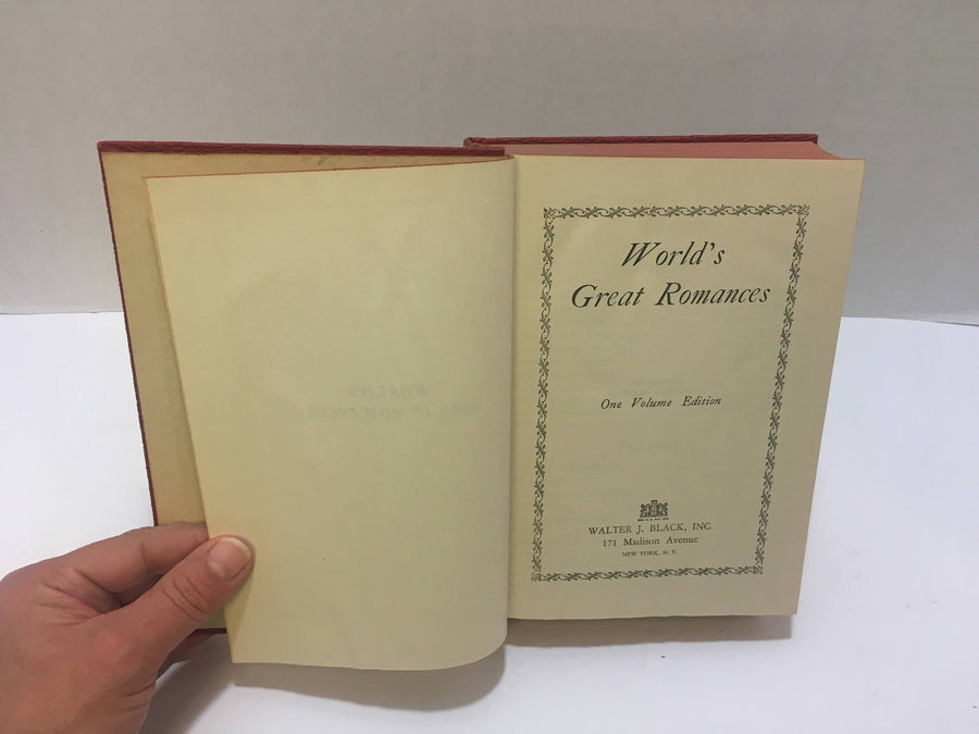 1920-World's Great Romances One Volume Edition by Walter J. Black Vintage Book