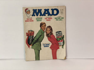 Mad Magazine No. 188 January 1977 Featuring The Bionic Woman and Bionic Man on the Cover