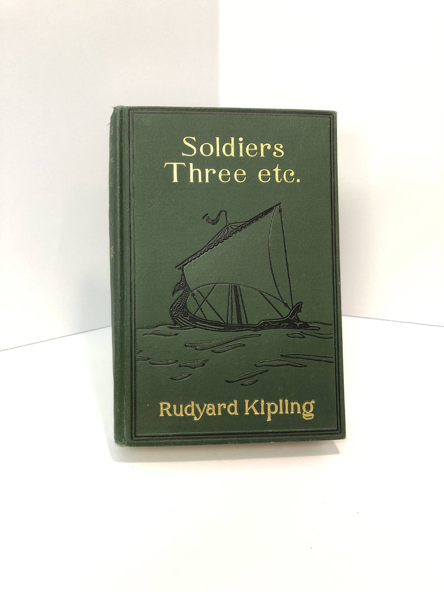 Soldiers Three etc. by Rudyard Kipling-1899 .Vintage Book