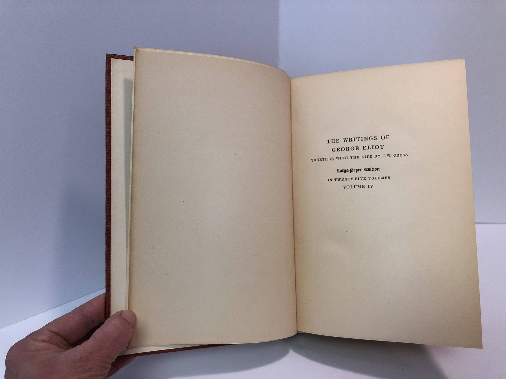 1907-The Writing of George Eliot Adam Bede Volume IV A Vintage Book