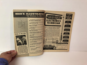 Vintage Men's Magazine Man's Illustrated July 1958