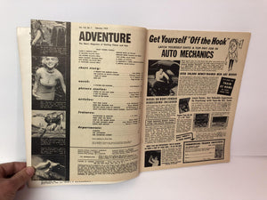 Vintage Men's Magazine Adventure The Man's Magazine of Exciting Fiction and Fact February 1958