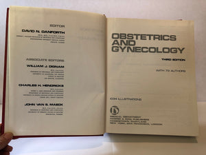 Obstetrics and Gynecology 1977 Third Edition with 73 Authors and 1034 Illustrations