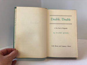 Ellery Queen Double Double A New Novel of Wrightsville 1950 Vintage Book