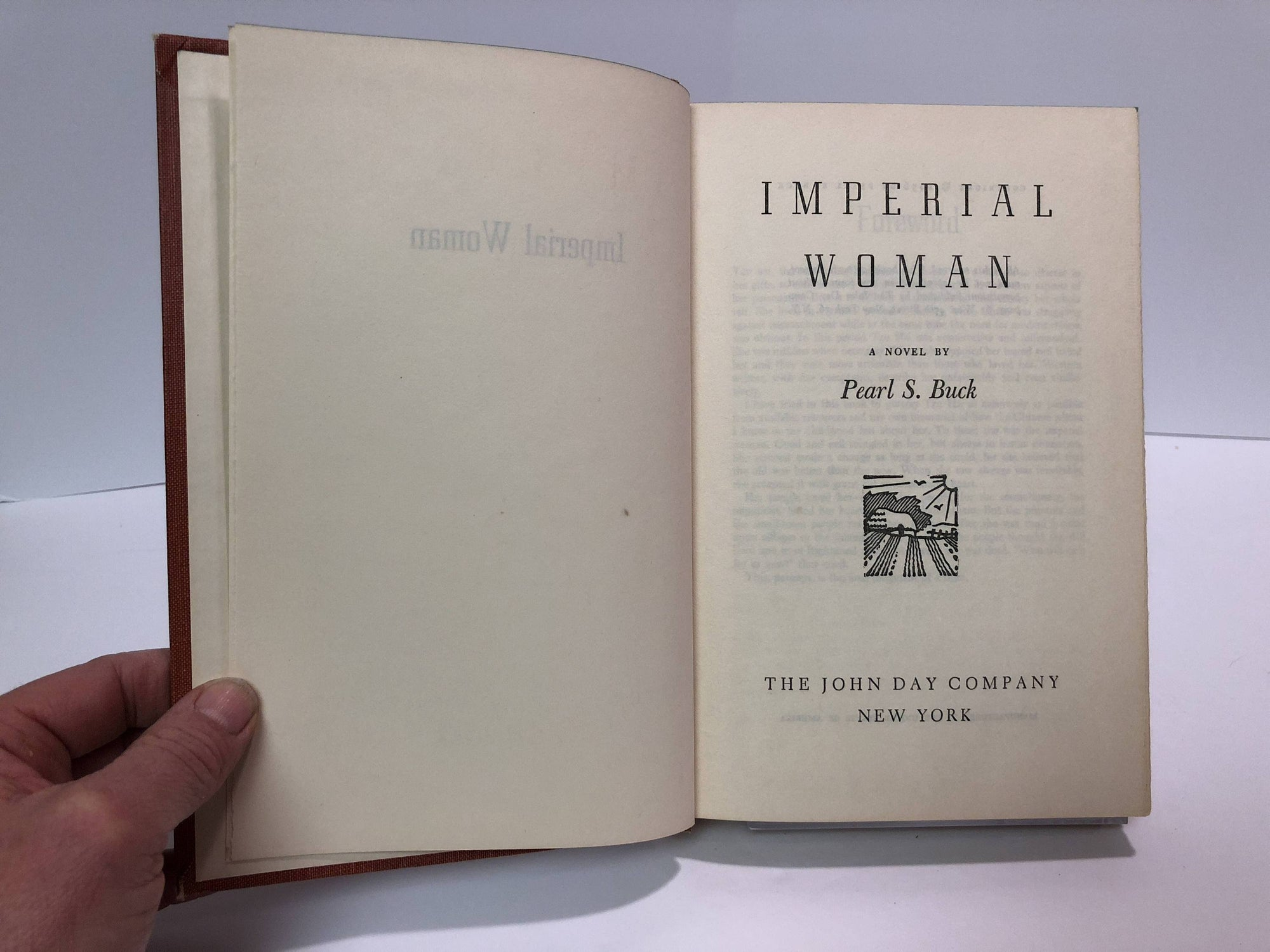 Imperial Woman by Pear S. Buck 1956 Vintage Book