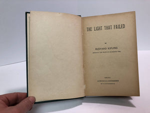 The Light That Failed by Rudyard Kipling 1904 Vintage Book