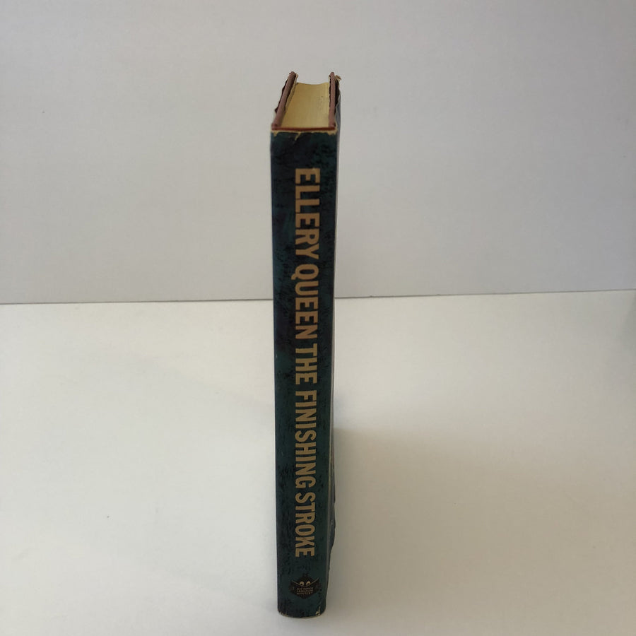 Ellery Queen The Finishing Stroke An Inner Sanctum Mystery with Original Dust Jacket 1958 Vintage Book