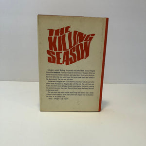 The Killing Season by John Redgate 1967 With Original Dust Jacket Vintage Book