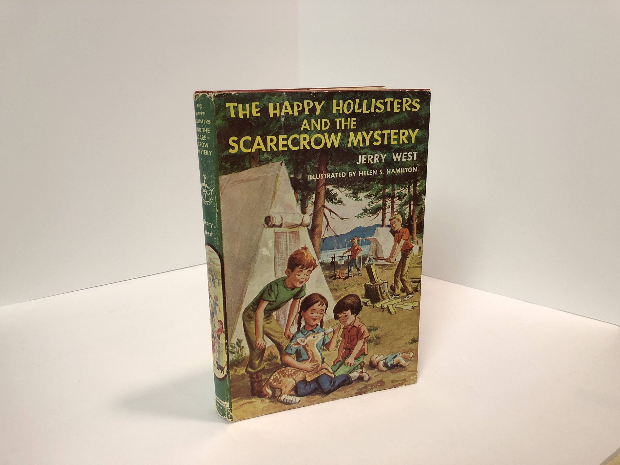 The Happy Hollisters and the Scarecrow Mystery #14 by Jerry West Illustrations by Helen S. Hamilton-1957 Vintage Book