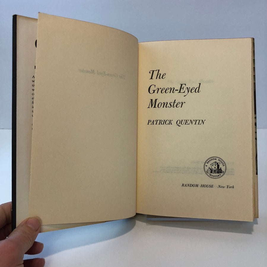 The Green-Eyed Monster by Partrick Quentin 1960 with Original Dust Jacket Vintage Book